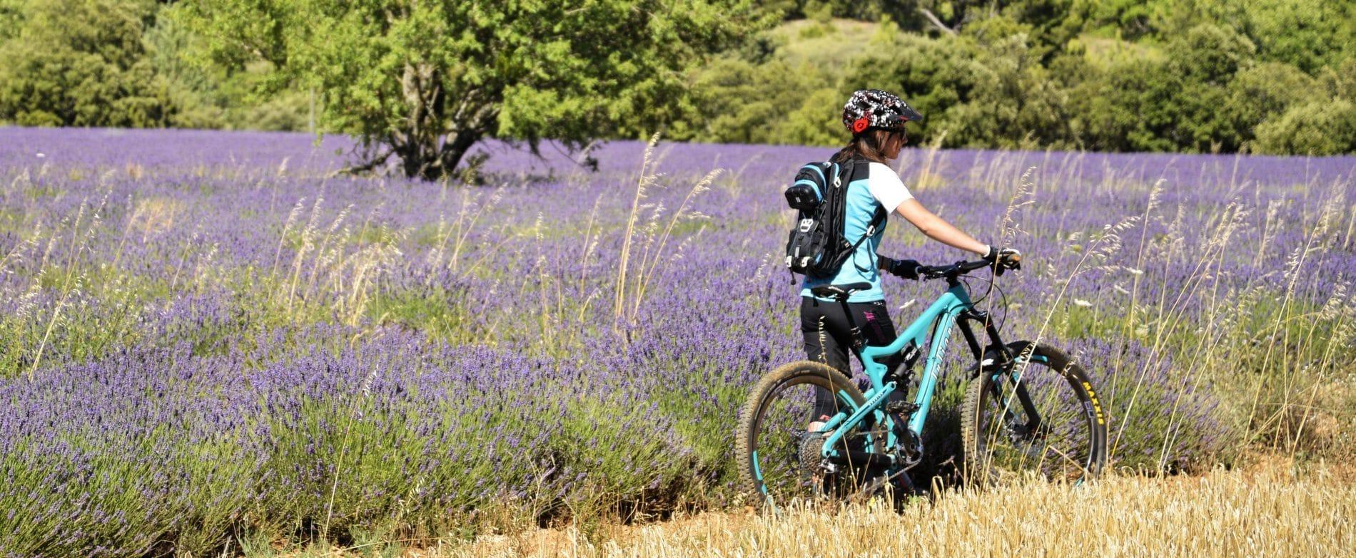 test VTT femme juliana Roubion 2015 descente enduro lavande